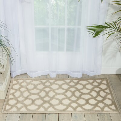 Blondelle Beige Area Rug Rug Size: Rectangle 36 x 56