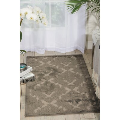 Hartz Silver/Gray Area Rug Rug Size: Rectangle 36 x 56