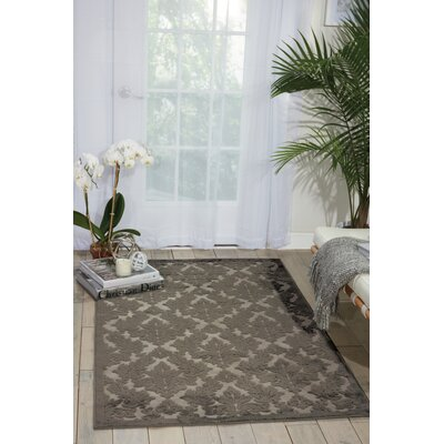 Hartz Silver/Gray Area Rug Rug Size: Rectangle 76 x 96