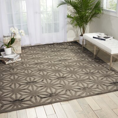Stanhope Beige/Gray Area Rug Rug Size: 53 x 73