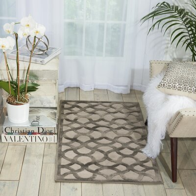 Blondelle Abstract Beige Area Rug Rug Size: 76 x 96