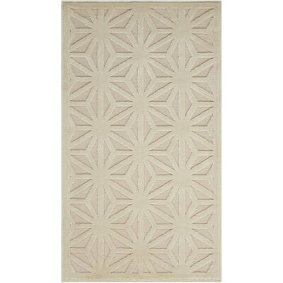 Stanhope Ivory Area Rug Rug Size: 53 x 73