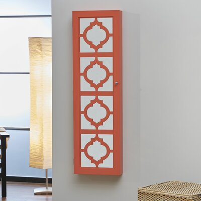 Harlesden Jewelry Armoire with Mirror Finish: Coral