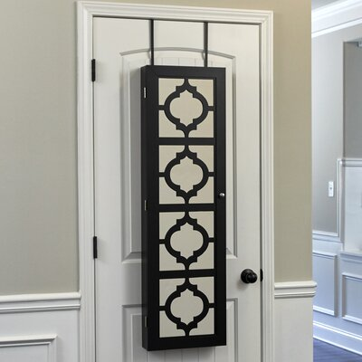 Harlesden Jewelry Armoire with Mirror Finish: Black