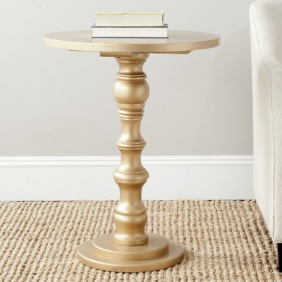 Patton End Table Color: Gold
