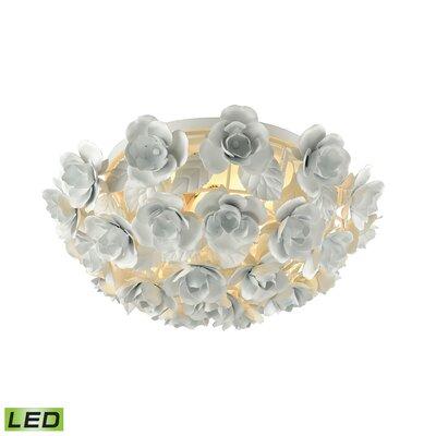 Sigourney 2-Light Flush Mount Bulb Type: 9.5W LED