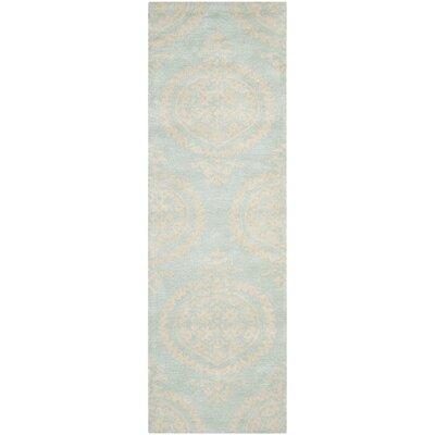 Rhona Blue & Beige Area Rug Rug Size: Runner 26 x 6