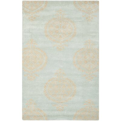 Rhona Blue & Beige Area Rug Rug Size: Rectangle 76 x 96