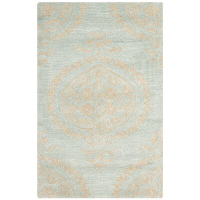 Rhona Blue & Beige Area Rug Rug Size: Rectangle 36 x 56