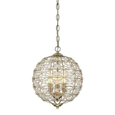 Mariela 3-Light Globe Pendant
