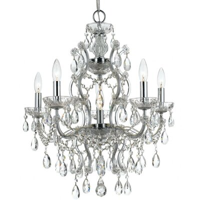 Maira 6-Light Crystal Chandelier