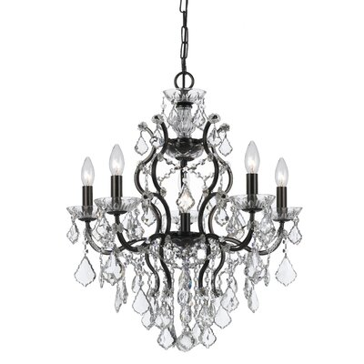 Maira 6-Light Crystal Chandelier Finish: Vibrant Bronze, Crystal Grade: Standard