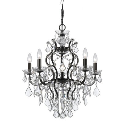 Maira 6-Light Crystal Chandelier Finish: Vibrant Bronze, Crystal Grade: Spectra