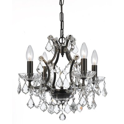 Maira 4-Light Crystal Chandelier Finish: Vibrant Bronze, Crystal Grade: Clear