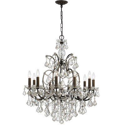 Maira 10-Light Crystal Chandelier Crystal Grade: Swarovski Spectra, Finish: Vibrant Bronze