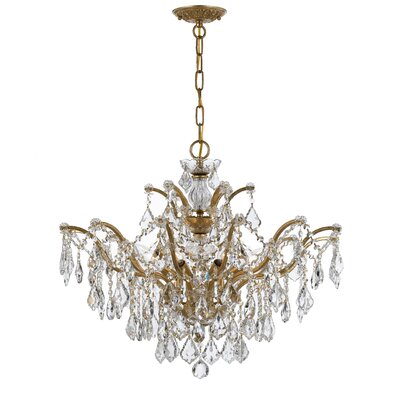 Maira 6-Light Crystal Chandelier Finish: Antique Gold