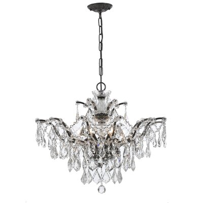 Maira 6-Light Crystal Chandelier Finish: Vibrant Bronze