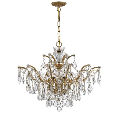 Maira 6-Light Crystal Chandelier Finish: Antique Gold, Crystal Grade: Swarovski Elements