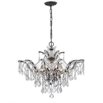 Maira 6-Light Crystal Chandelier Finish: Vibrant Bronze, Crystal Grade: Swarovski Elements