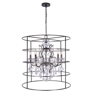 Maira 5-Light Crystal Chandelier Crystal Grade: Hand Cut