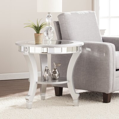 Jocelyn Mirrored End Table