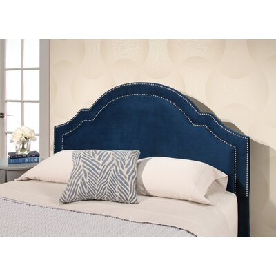 Konnor Velvet Upholstered Panel Headboard Upholstery: Navy