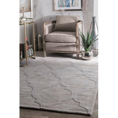 Cherelle Hand-Woven Dark Gray Area Rug Rug Size: Rectangle 3 x 5