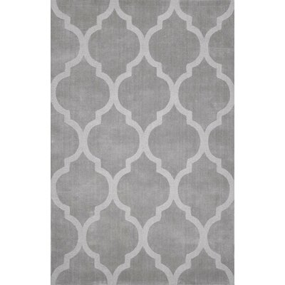 Cherelle Hand-Woven Dark Gray Area Rug Rug Size: Rectangle 76 x 96