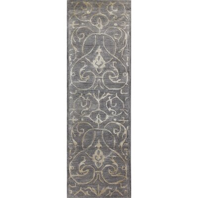 Carolos Hand-Tufted Grey Area Rug Rug Size: Runner 26 x 8