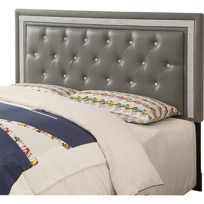 Kelton Upholstered Panel Headboard Size: Twin, Upholstery: Gray