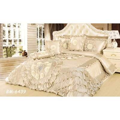Hampden Wedding Chamber Comforter Set Size: King, Color: Cream