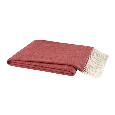 Kaya Herringbone Throw Blanket Color: Red Poppy