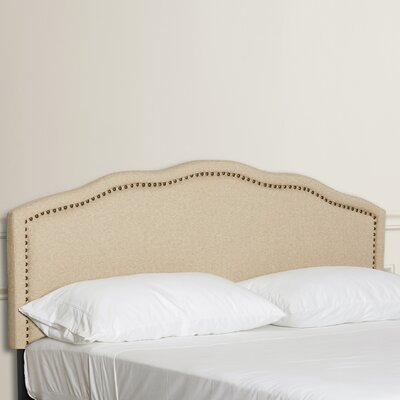 Dennis King Upholstered Panel Headboard Size: King, Color: Beige