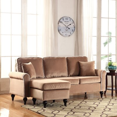 Nieve Reversible Chaise Sectional Upholstery: Champagne