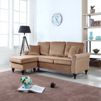 Ester Reversible Sectional Upholstery: Champagne