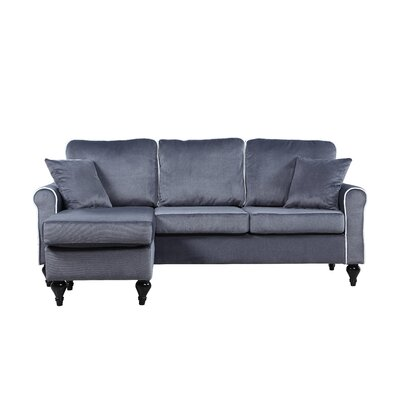 Ester Reversible Sectional Upholstery: Gray