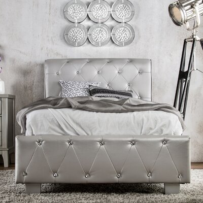 Mya Upholstered Sleigh Bed Size: California King