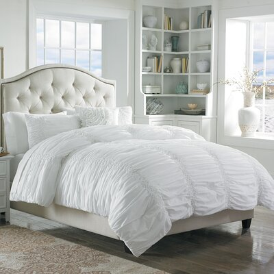 Odele Cotton Clouds Comforter Set Size: King, Color: White