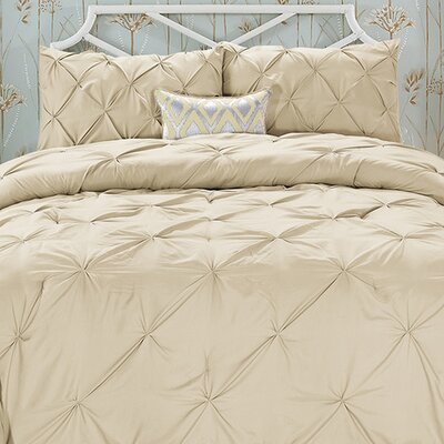 Doline 3 Piece Comforter Set Color: Taupe, Size: Full/Queen