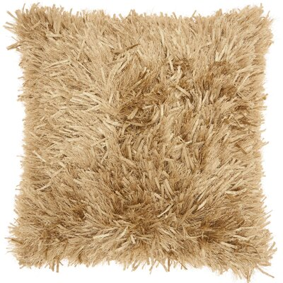 Bismouth Shag Throw Pillow Color: Gold