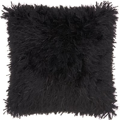 Bismouth Shag Throw Pillow Color: Black