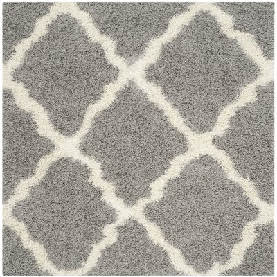 Alice Gray & Ivory Area Rug Rug Size: Square 6