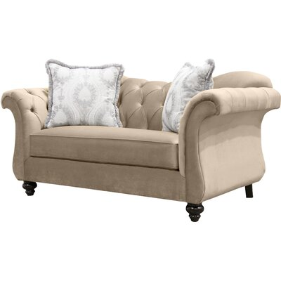 Indira Premium Tufted Upholstered Loveseat Upholstery: Light Mocha