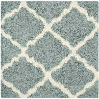 Charmain Light Blue/Ivory Area Rug Rug Size: Square 8