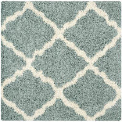 Charmain Light Blue/Ivory Area Rug Rug Size: Square 6