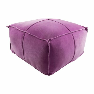 Colebrook Pouf Ottoman Upholstery: Orchid