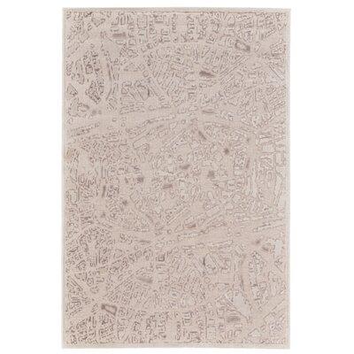 Ramona Cream Area Rug Rug Size: 53 x 76
