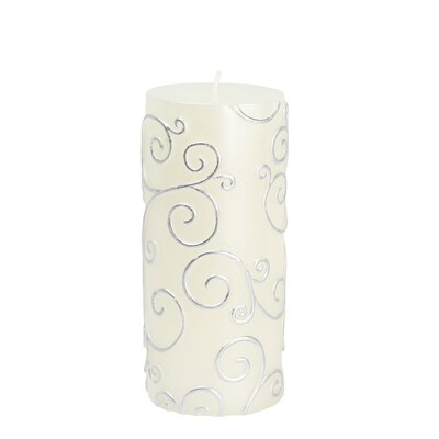 Scroll Pillar Candle Size: 6