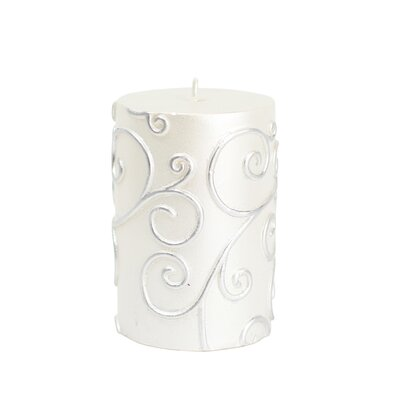 Scroll Pillar Candle Size: 4