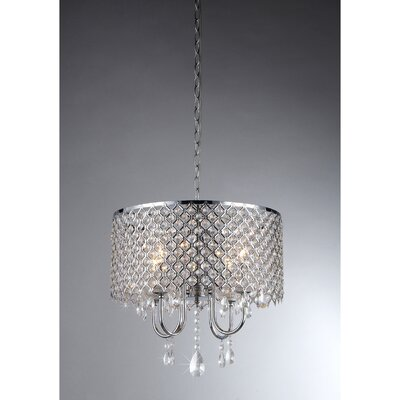 Hendrik 4-Light Drum Chandelier